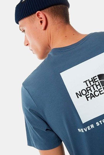 Camiseta The North Face M S/S RED BOX azul