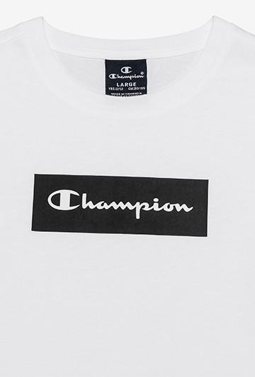 Camiseta Champion Block Box Script blanca