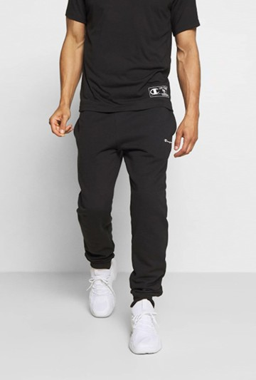 Pantalón Champion Rib Cuff negros