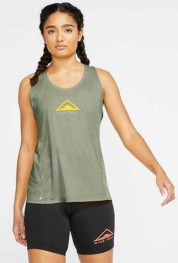 Camiseta Nike City Sleek Women's Trail Runni verde