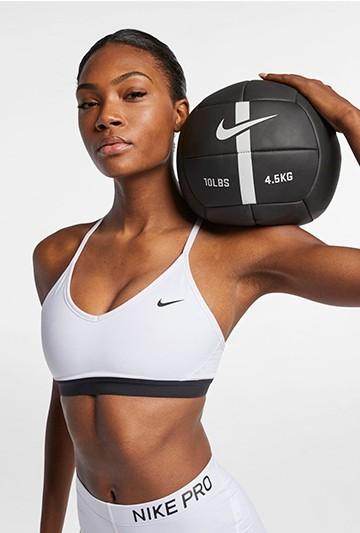 Camiseta Nike Indy Women's Light-Support Spo Blancas