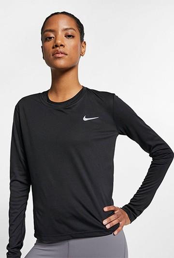 Camiseta Nike Miler Women's Running Top Negra
