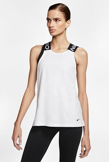 Camiseta Nike Pro Women's Tank blanca