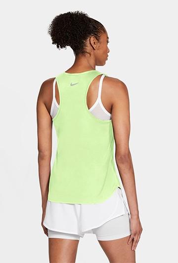 Camiseta Nike Swoosh Run Women's Running Tan verde