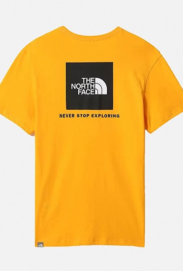 Camiseta The North Face M S/S REDBOX TEE  - EU amarilla