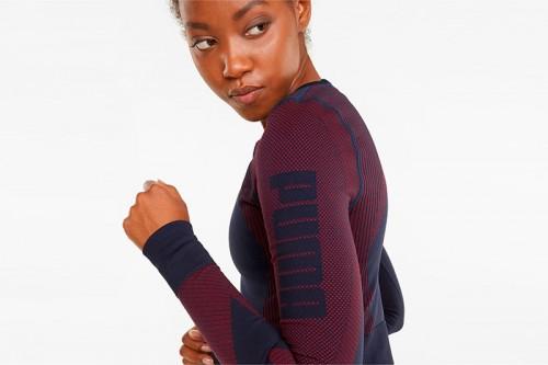 Camiseta Puma entrenamiento de manga larga ajustada y sin costuras Multicolor