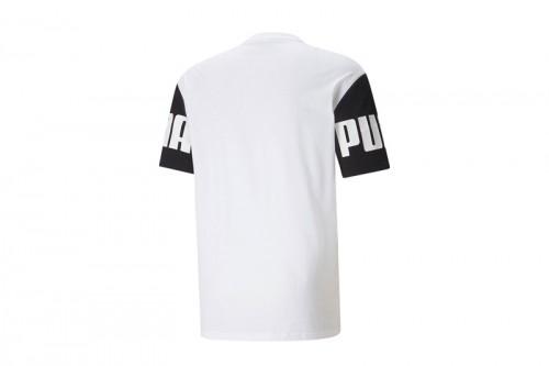 Camiseta Puma POWER Colorblock Tee Blanca