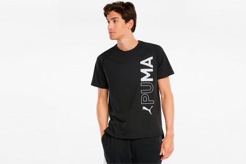 Camiseta Puma Sleeve negra