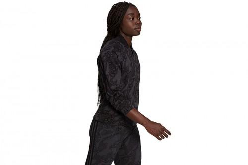 Chaqueta adidas SPORTSWEAR FUTURE ICONS ANIMAL PRINT Negra