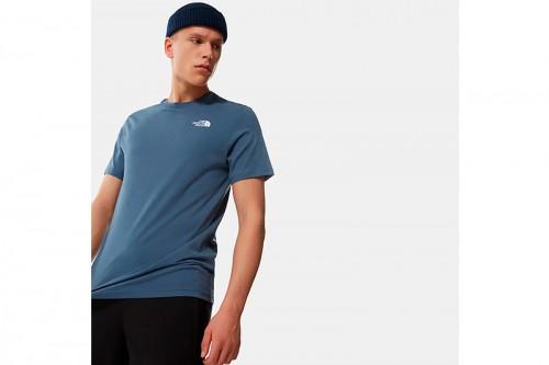 Camiseta The North Face M S/S RED BOX azul