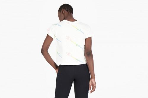 Camiseta Champion ALL-OVER RAINBOW Blancas