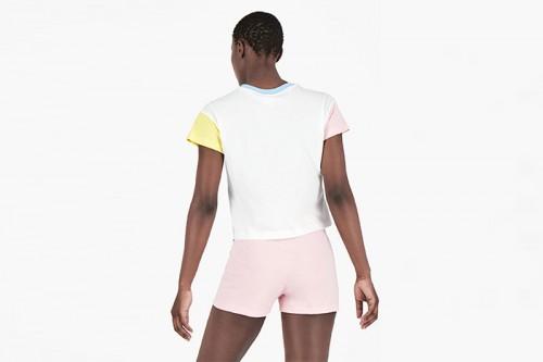 Camiseta Champion COLOUR BLOCK RAINBOW blanca