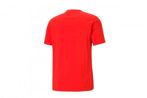 Camiseta Puma Essentials Logo juvenil roja