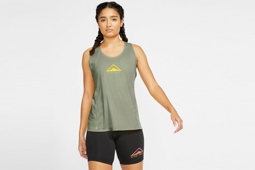 Camiseta Nike City Sleek Women's Trail Runni verde