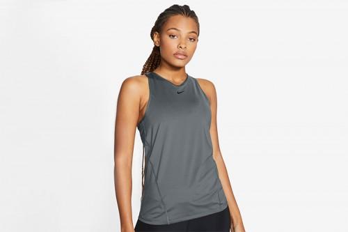 Camiseta Nike Pro Mesh Tank gris