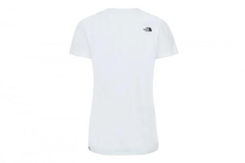 Camiseta The North Face W S/S EASY TEE - EU blanca