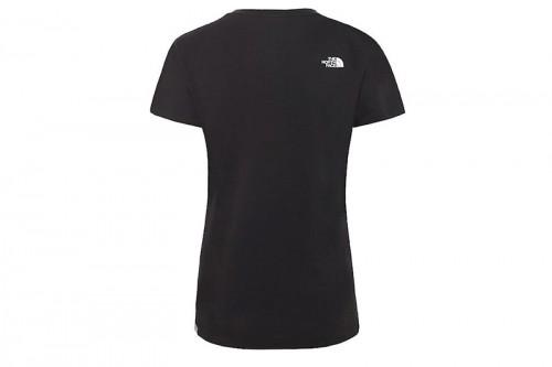 Camiseta The North Face W S/S EASY TEE - EU negra