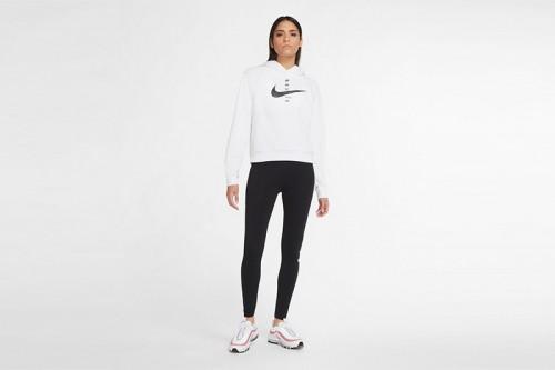 Sudadera Nike Sportswear Swoosh Women's Brus blanca