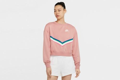 Sudadera Nike Sportswear Women Fleece Crew Rosa