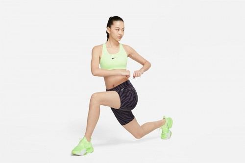 Sujetador deportivo Nike Swoosh verde