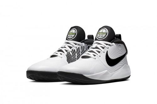 Zapatillas Nike Team Hustle D 9 Big Kids' Bask Blancas