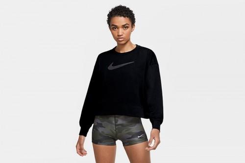 Sudadera Nike Dri-FIT Get Fit Women's Swoosh negra