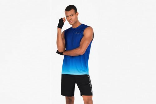 Camiseta Champion SCRIPT LOGO QUICK DRY TANK azul