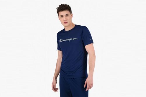 Camiseta Champion SCRIPT LOGO QUICK DRY TRAINING azul