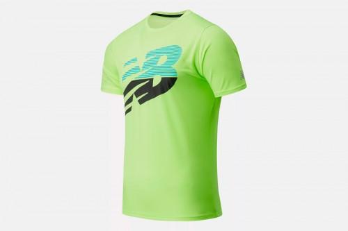 Camiseta New Balance Printed Accelerate Short Sleeve Verde