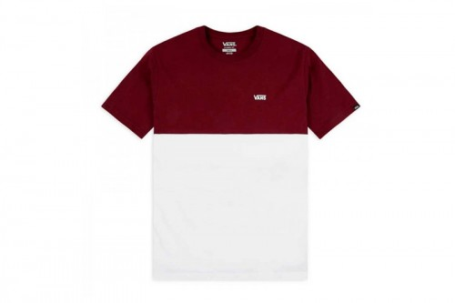 Camiseta Vans COLORBLOCK TEE Blanca