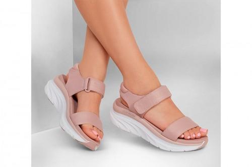 Sandalias Skechers D'LUX WALKER - NEW BLOCK Rosas