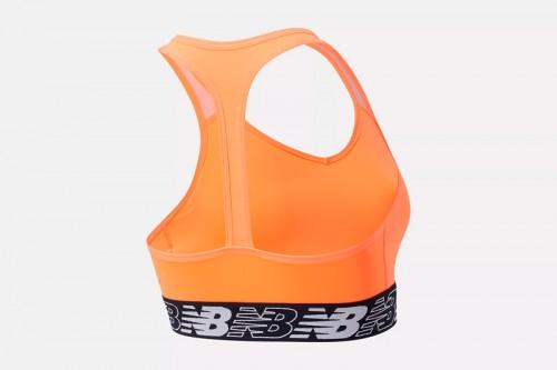 Sujetador deportivo New Balance NB Pace Bra 3.0 Naranja