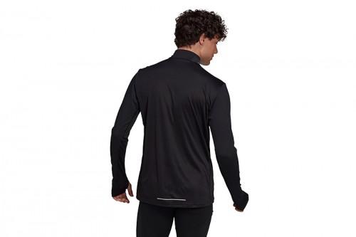 Camiseta adidas OWN THE RUN 1/2 ZIP negra