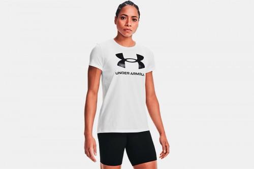 Camiseta Under Armour Live Sportstyle Graphic blanca