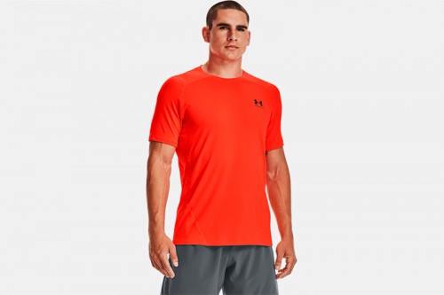 Camiseta Under Armour UA HG Armour Fitted naranja