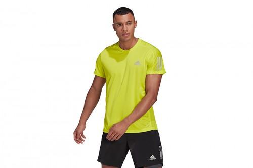 Camiseta adidas OWN THE RUN amarilla