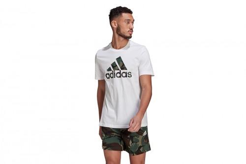 Camiseta adidas M CAMO T Blancas