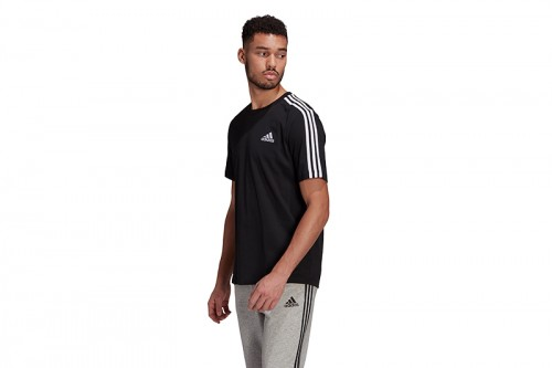 Camiseta adidas 3 TIRAS ESSENTIALS negra