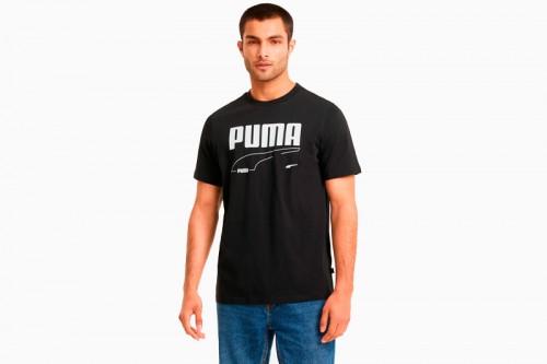 Camiseta Puma Camiseta Rebel para hombre Negras