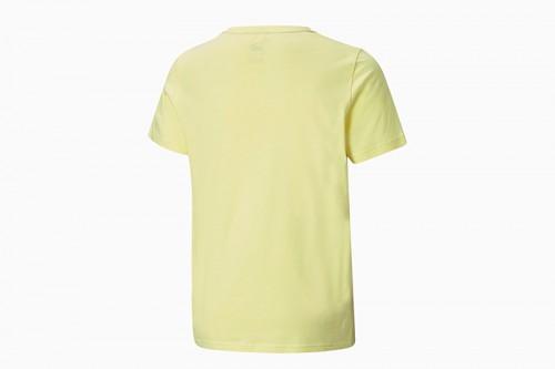 Camiseta Puma Essentials Logo juvenil amarilla