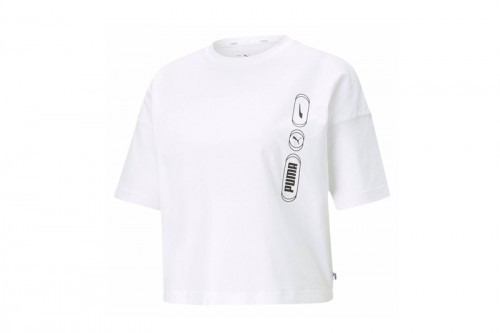 Camiseta Puma Rebel Fashion Tee Blancas