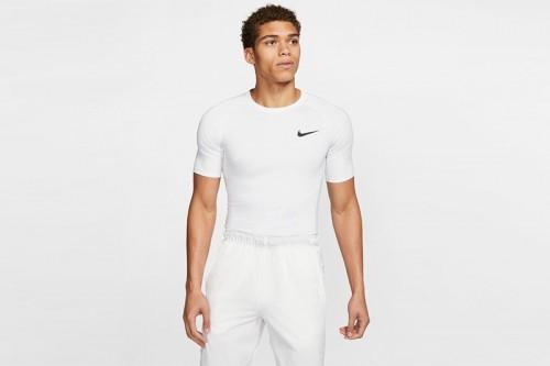 Camiseta Nike Pro Men's Tight Fit Short-Slee Blanca