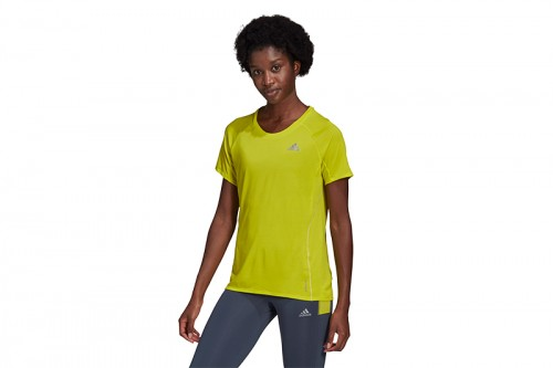Camiseta adidas ADI RUNNER amarilla