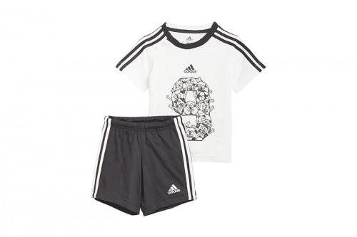 Chándal adidas I Lil 3 Stripes Sport Performance Set blanco