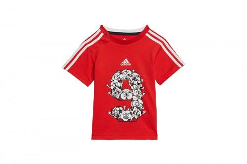 Chándal adidas Lil 3 Stripes Sport Performance Set rojo