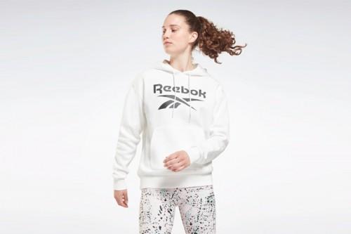 Sudadera Reebok Identity Logo Fleece Hoodie Blanca