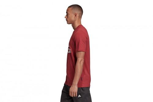 Camiseta adidas Badge of Sport Roja