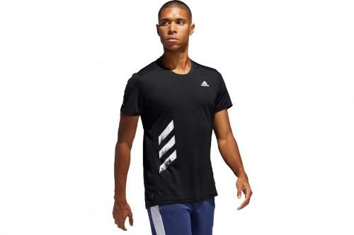 Camiseta adidas RUN IT TEE PB Negra