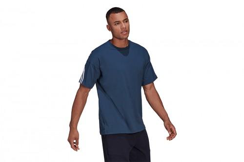 Camiseta adidas SPORTSWEAR 3 BANDAS Azul Marino