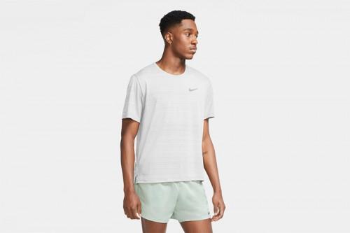 Camiseta Nike Dri-FIT Miler Blanca